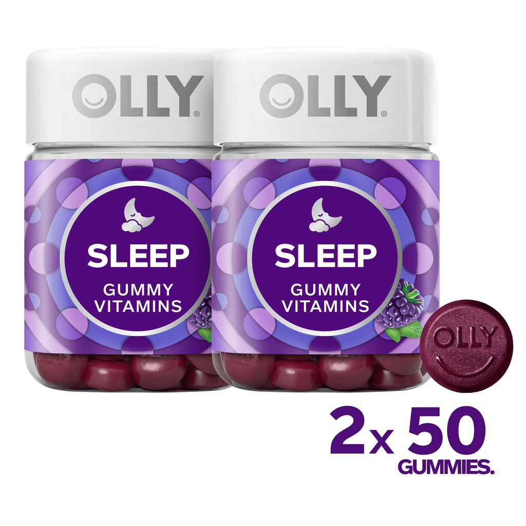 Bundle Of 2 Olly Sleep Gummy Vitamins 25 Day Supply 50 Count