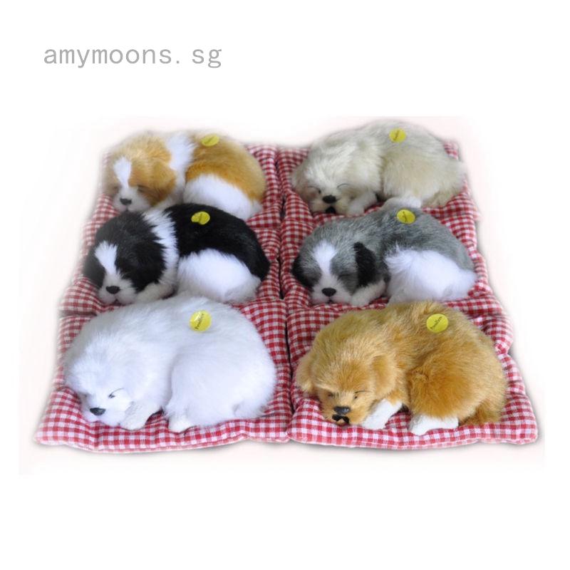 Cute simulation plush sleeping cat stuffed doll kids gift photo prop cat toys