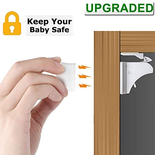 Invisible Magnetic Baby Child Pet Proof Cupboard Door Drawer Safety Lock UK Sell