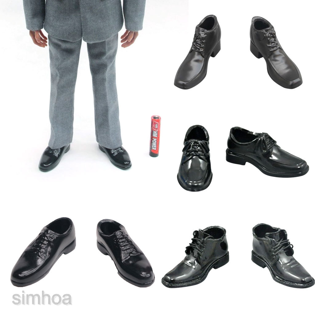 """1//6 Formal Dress Shoes for 12/"""" Hot Toys Dragon TTL Action Figure Body"""