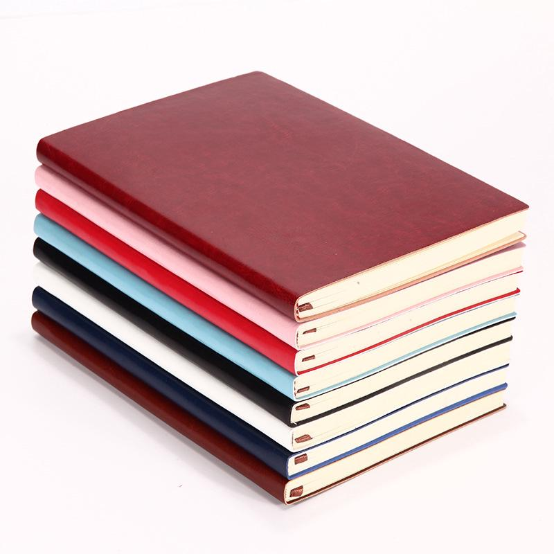 Candy Color A6 Leather Loose Leaf Refill Notebook Spiral