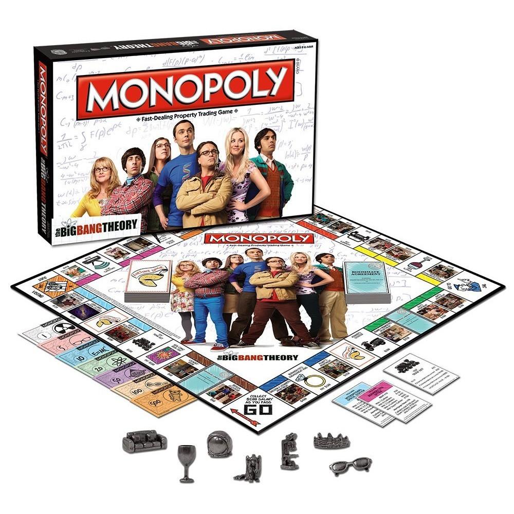 MONOPOLY BIG BANG THEORY BOARD GAME HASBRO SHELDON | Shopee