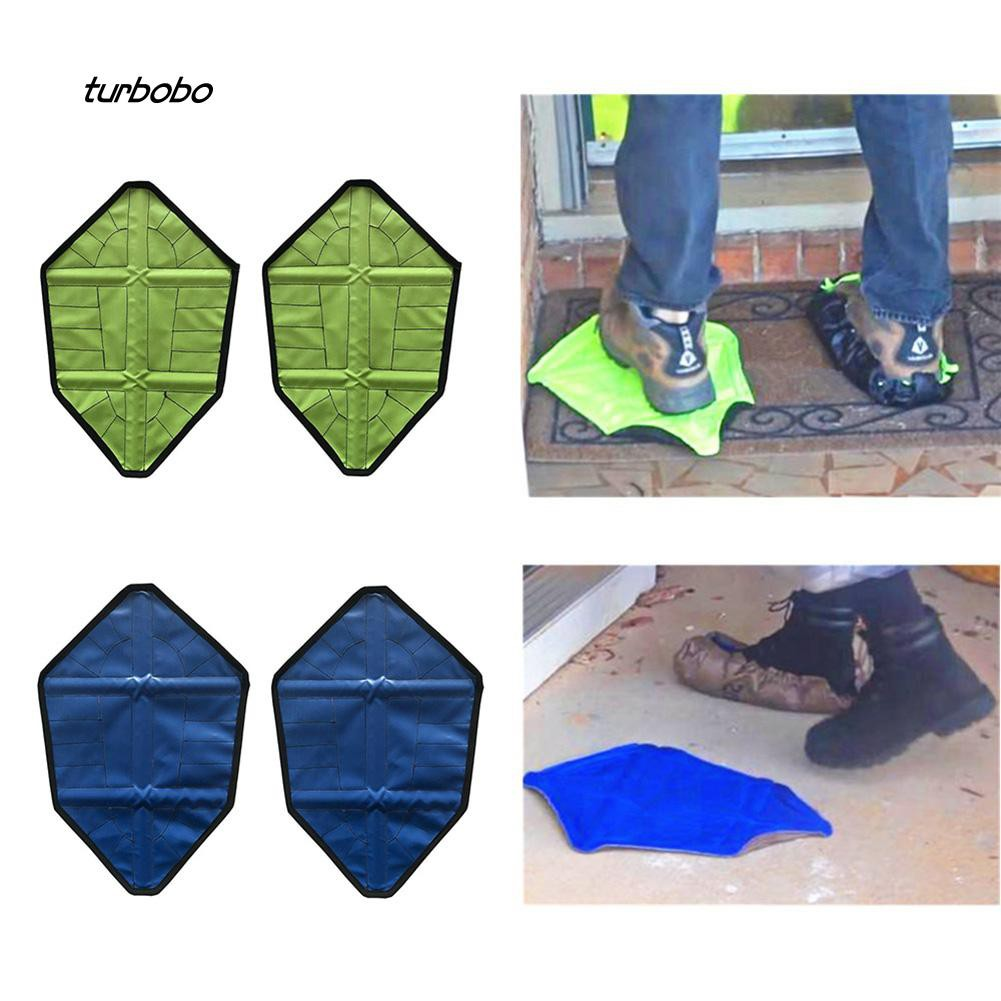 Hot Waterproof Reusable Step in Sock Portable Auto-Package Overshoes Shoe Covers
