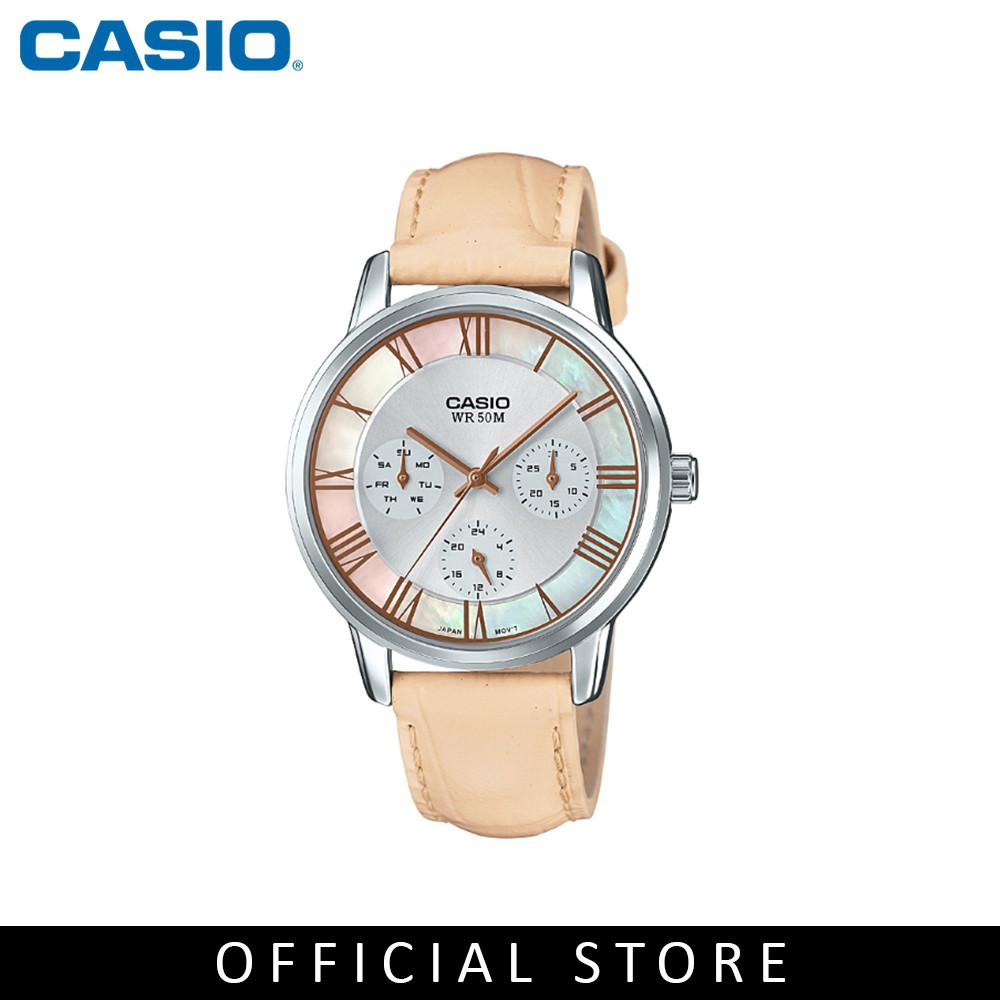 Zuren Casio General Womens Ltp E315l 7a2vdf Leather Band Watch Light Pink Fossil Fs5182 Set Guess Original W1048g2 Complete With Box And Warranty Cards Shopee Singapore