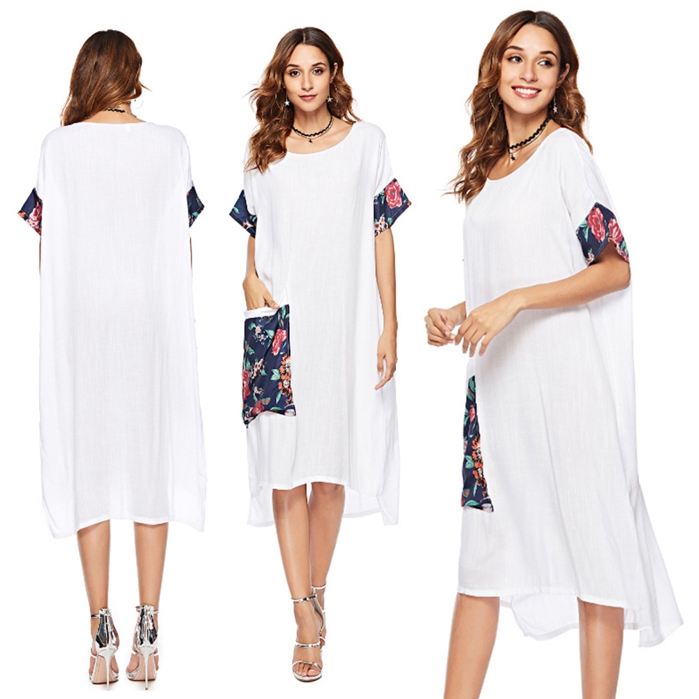 66eef7396053 Womens Holiday Strappy Button Pocket Ladies Summer Beach Midi Swing Sun  Dress | Shopee Singapore
