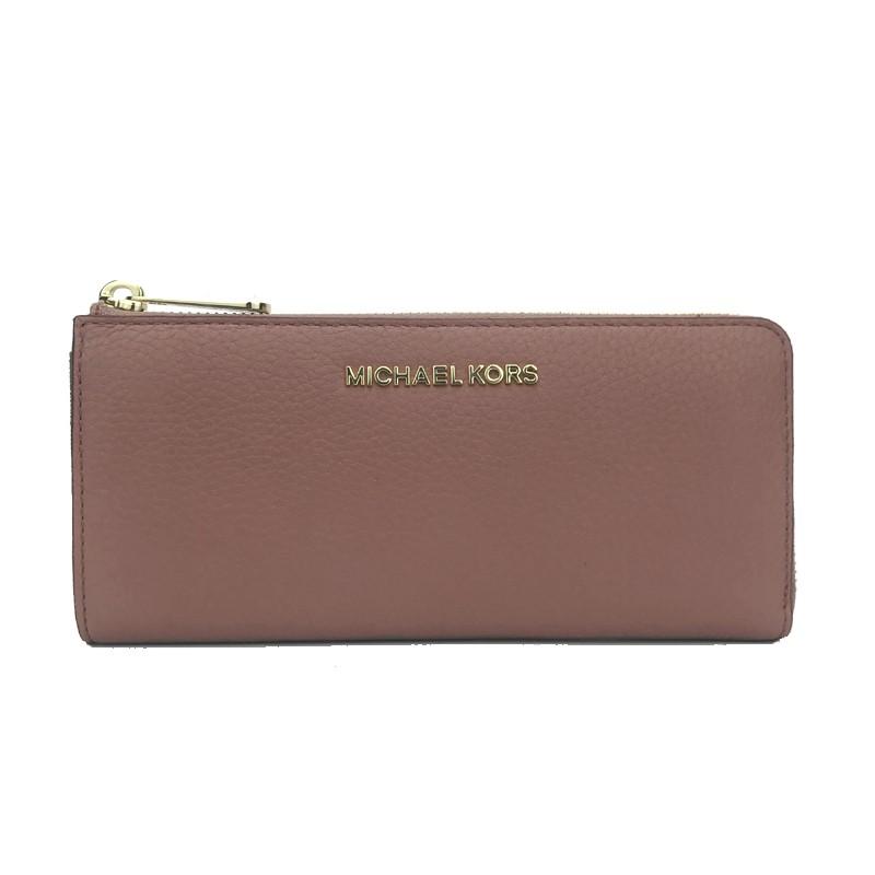 5a495033af0e Michael Kors Pebble Leather Adele Slim Bifold Wallet Merlot
