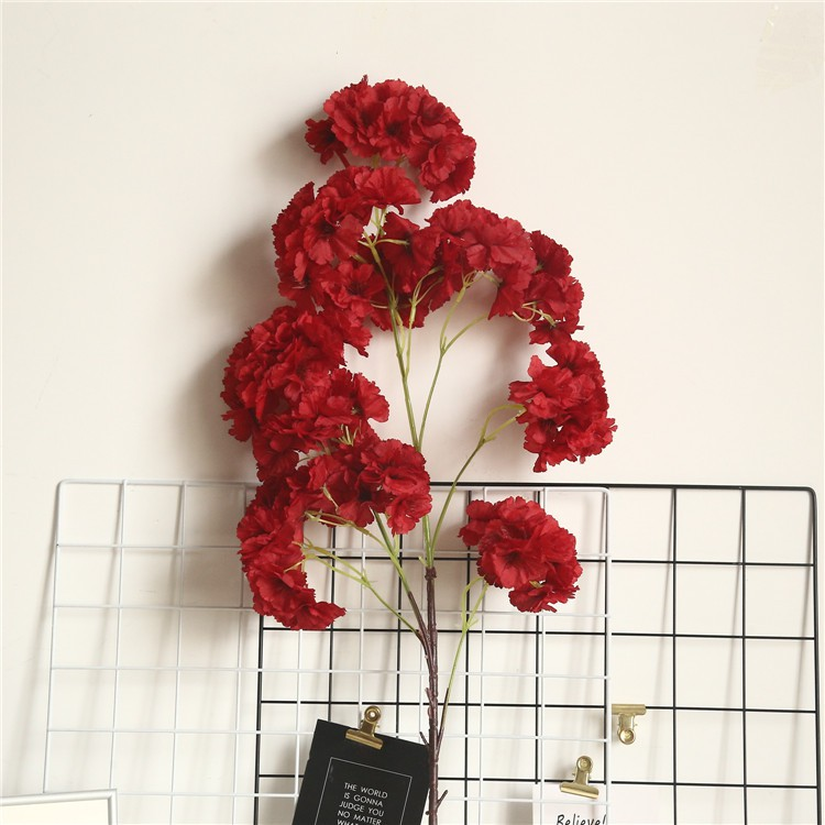Spots Can Be Wholesale Chinese Wedding Wedding Road Guide Layout Fake Flower Silk Flower Big Red Cherry Blossom Pear Flower Pink Champagne Dried Flower Arrangement Shopee Singapore
