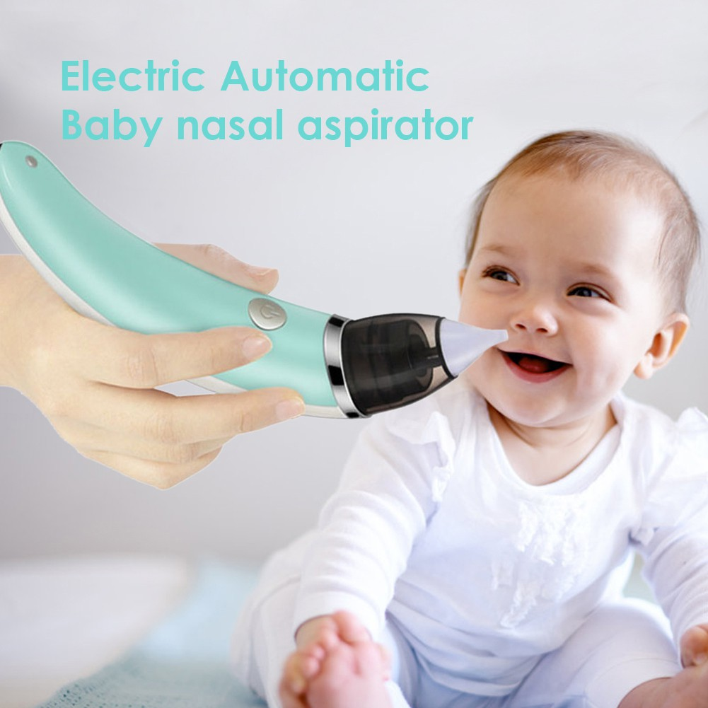 Electric Baby Silicone Nasal Aspirator Vacuum Sucker Nose Mucus Snot Cleaner New