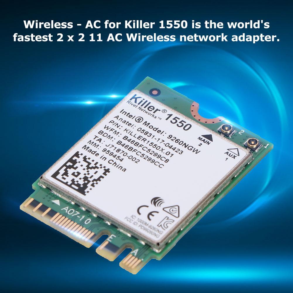 Wireless Network Card for KILLER 1550AC for windows10 2 4 G