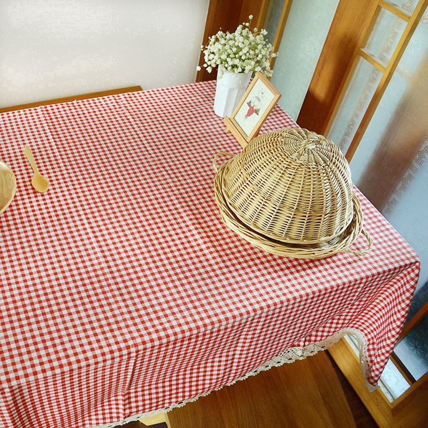 Red Gingham Plastic Disposable Wipe  Check Tablecloth Party Out Picnic SP