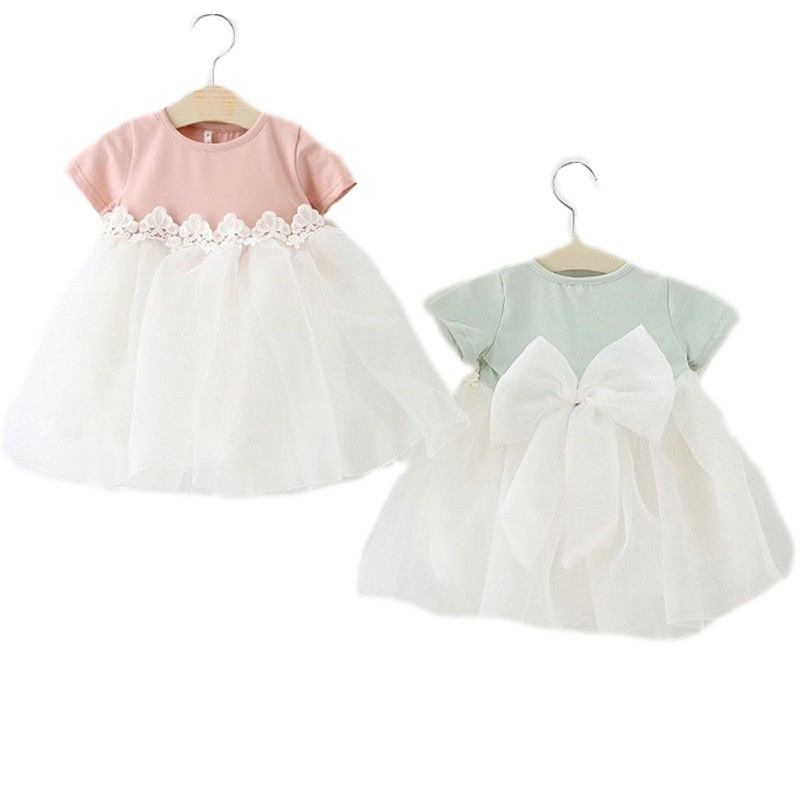 a7456d5e1ea5e Baby Girls Tutu Tulle Dress Princess Party Lace Flower Dresses