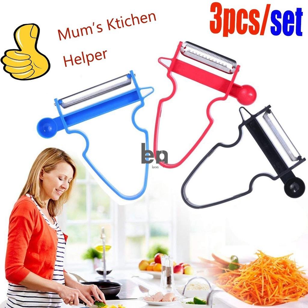 3Pcs//set  Peeler Slicer Shredder julienne Fruit 3 in 1 Multifunctional Cutter