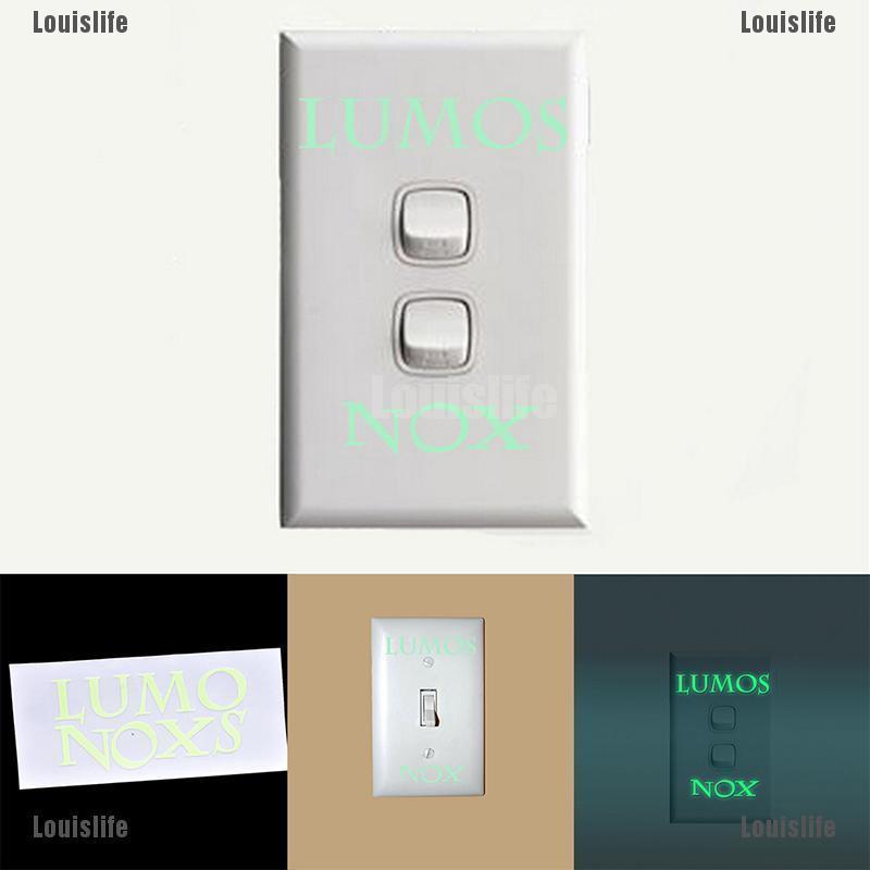 Lumos Nox Light//Dark Light Switch Sticker Vinyl Decal Child Room