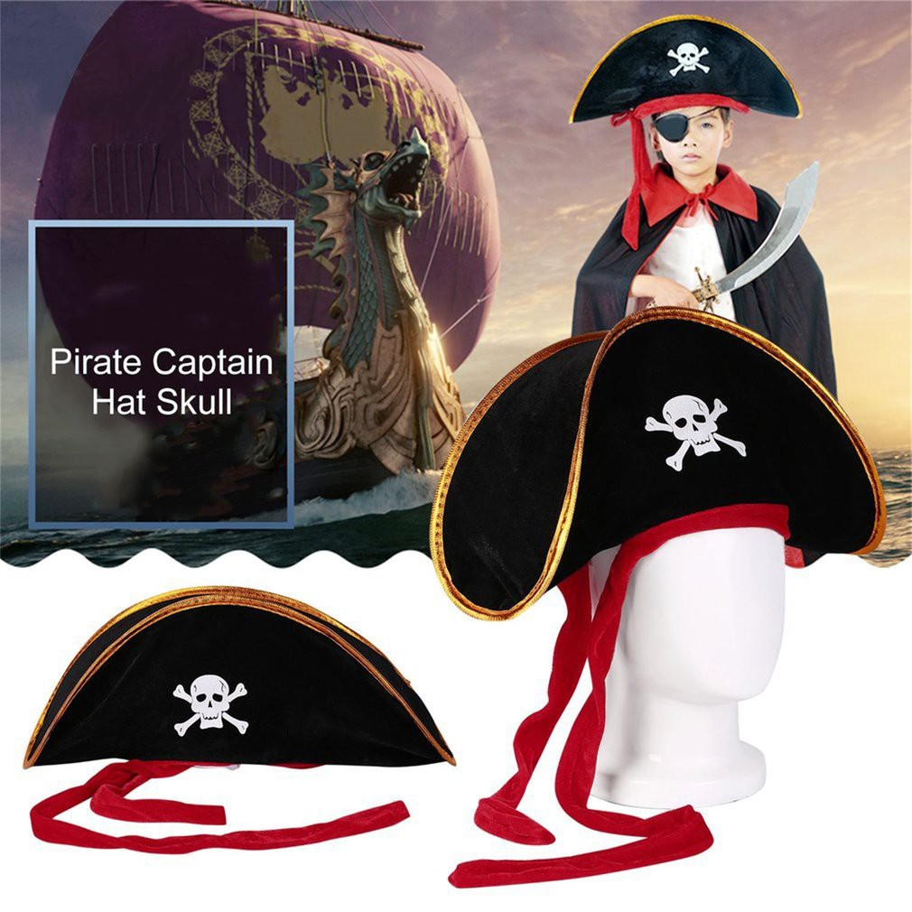 MENS WOMENS CHILDRENS BLACK PIRATE POUCH WITH SKULL /& CROSSBONES FANCY DRESS