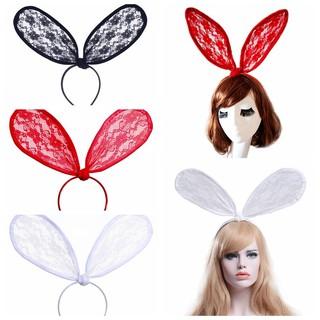 Realistic Cute Rabbit Ears Headband Hair Band Women Girls Floral Fabric Butterfly Bow Hair Hoop Hairband Hair Accessories Apparel Accessories