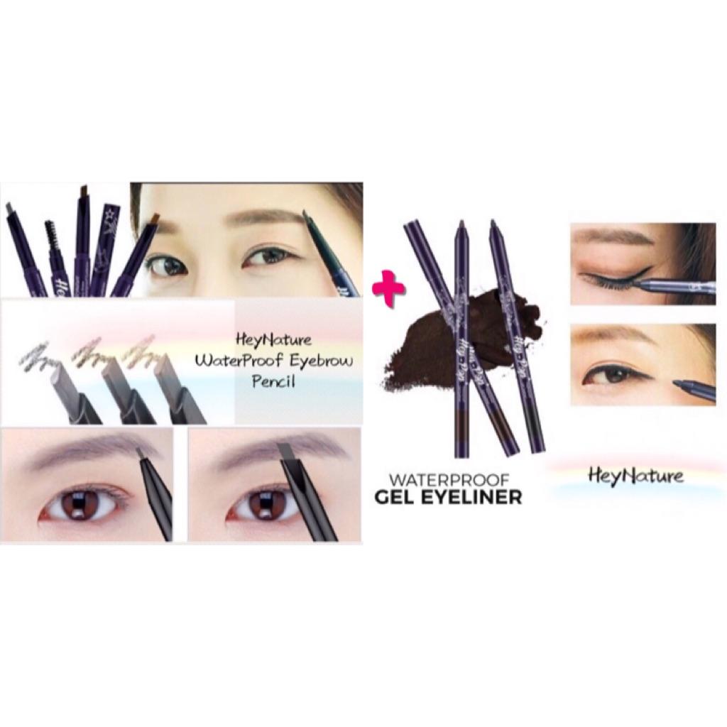 1 Heynature Waterproof Easy Draw Gel Eyeliner Eyebrow Pencil Lt Pro Eye Liner Shopee Singapore