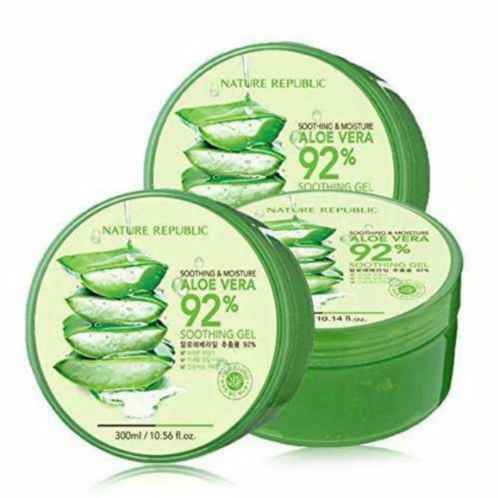 Nature Republic Aloe Vera 92 Moisture Soothing Gel 300ml Shopee Original Singapore