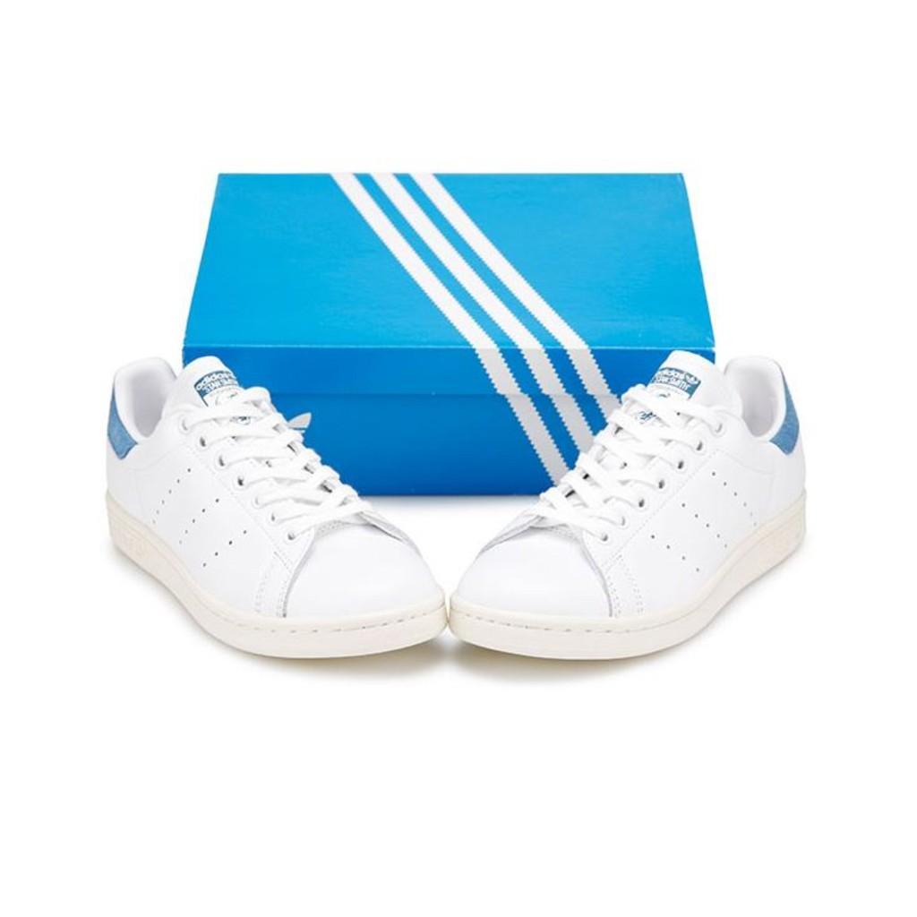 official photos 70867 e1b3e Adidas MENS ORIGINALS STAN SMITH SHOES Unisex Orginals WHITE BLUE S82259