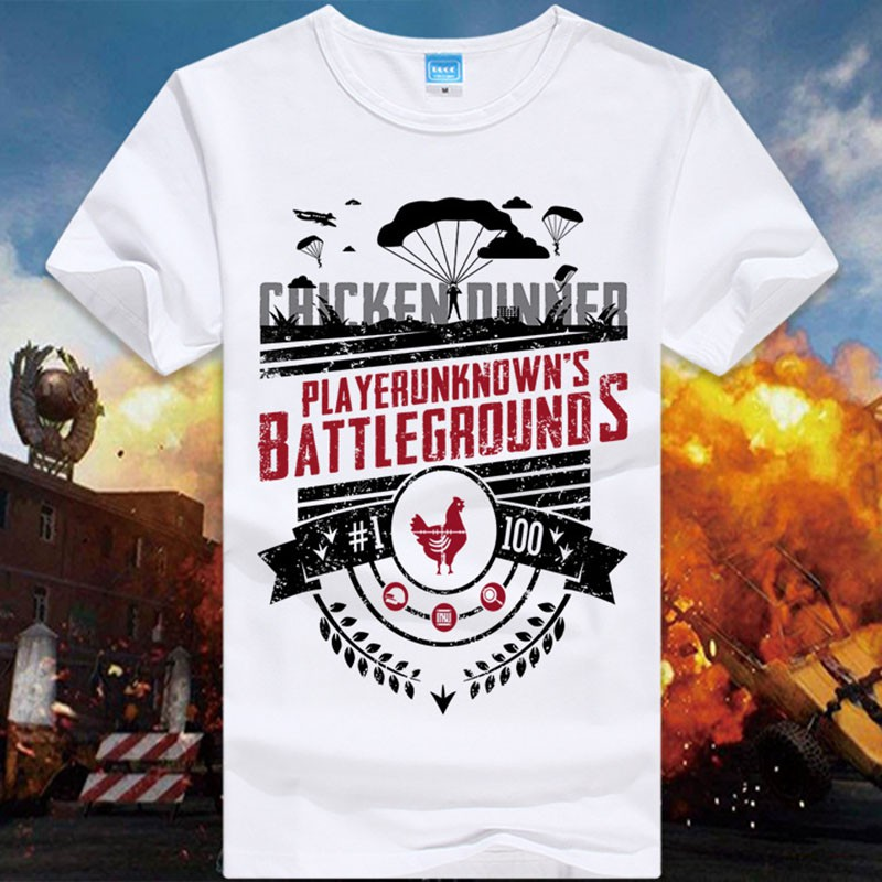 8ab5931d Game Playerunknown's Battlegrounds Male T shirts PUBG T-shirts | Shopee  Singapore