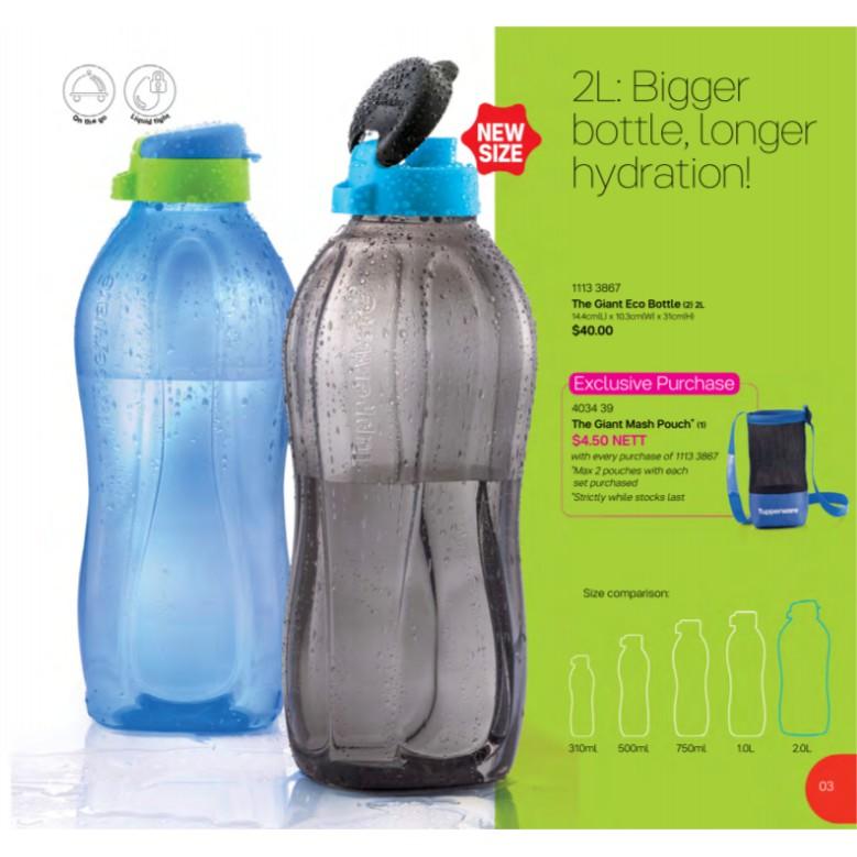 Tupperware Eco bottle 500ml / 750ml / 1 L / 2L