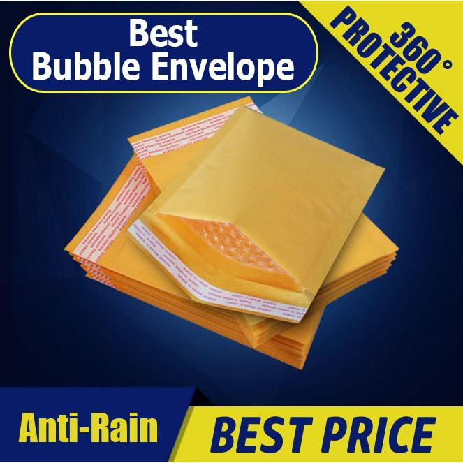 【Bubble Envelope】【50 PCS】Kraft Paper Bubble Wrap Envelope Packaging Material/Bubble envelope
