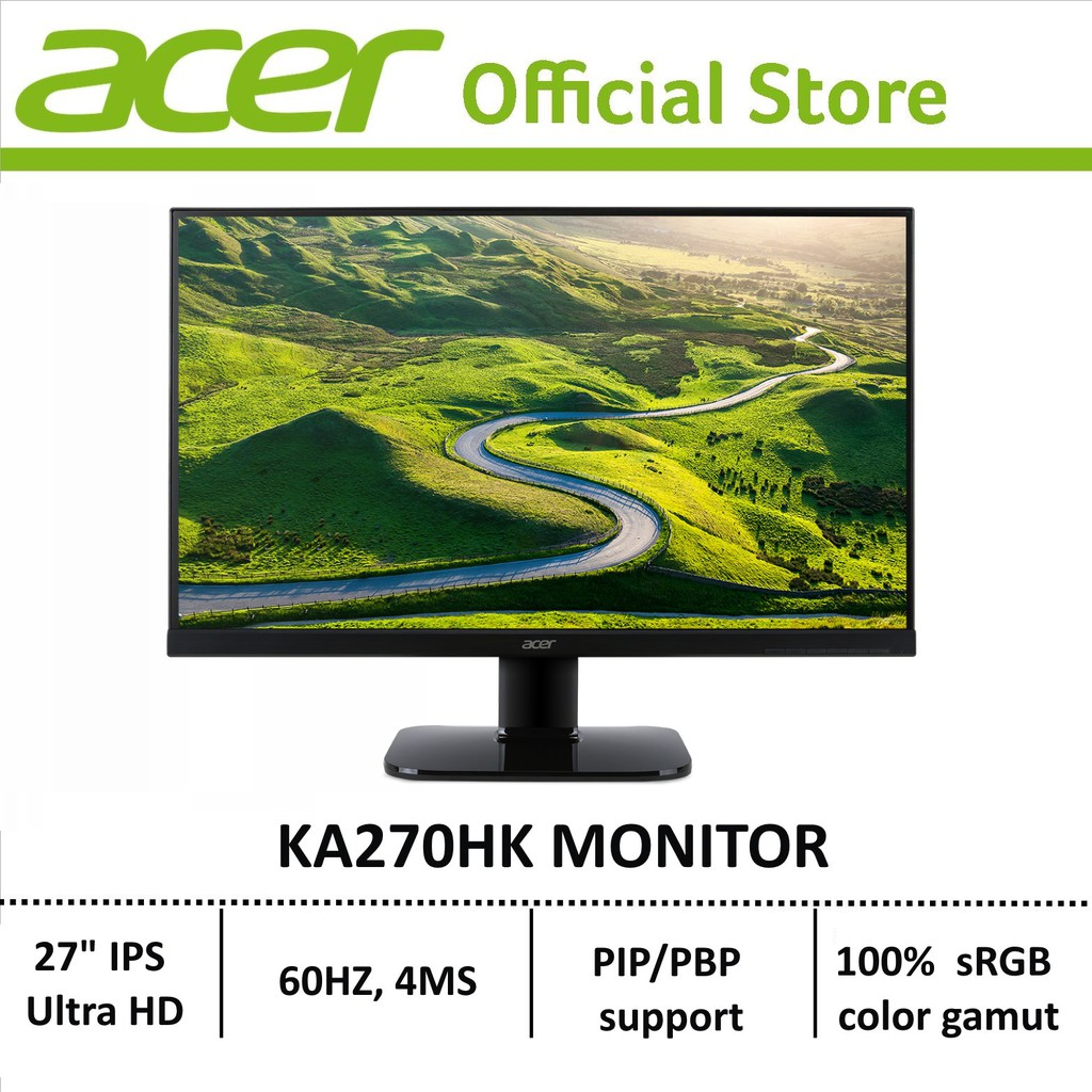 Acer KA270HK - 27-inch IPS Ultra HD LCD display with LED