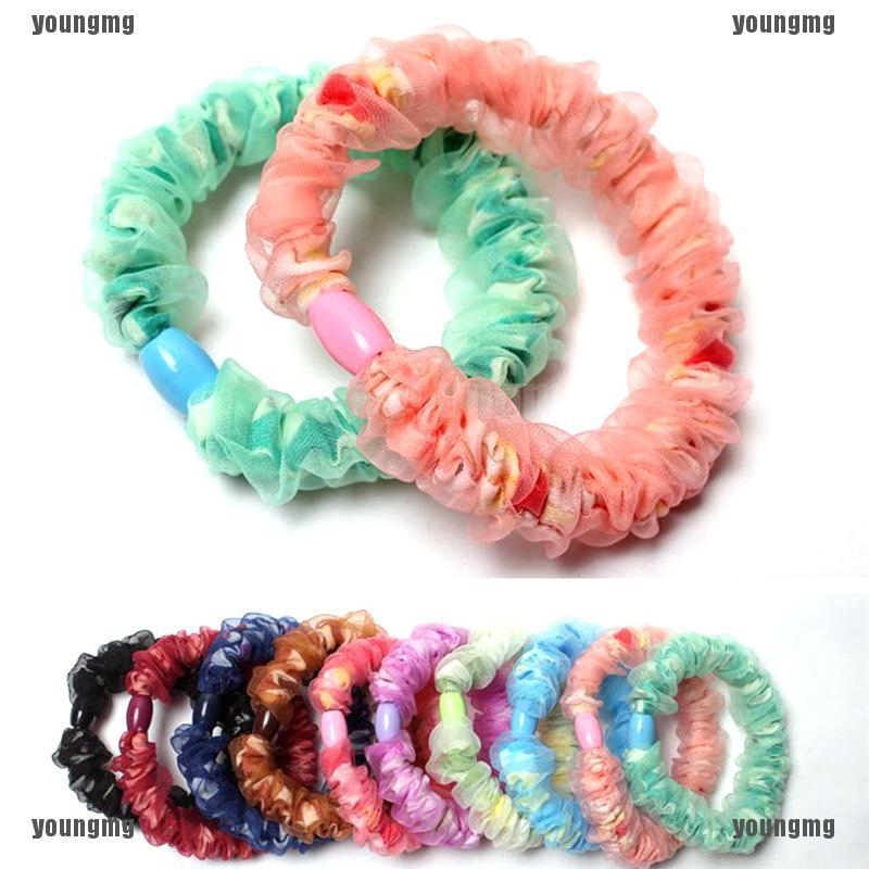 10x Baby Kids Hair Accessories Girls Elastic Hair Band Ties Rope Ponytail Holder