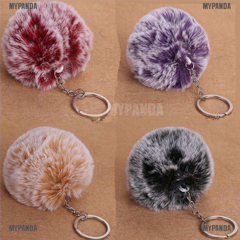 2pcs Faux Rabbit Fur Ball DIY Furry Ball for Phone Tag Handbag Charm Keychain