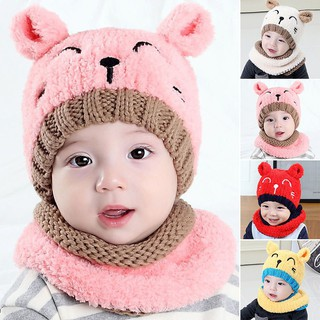 625d63f55 Soft Cute Baby Infant Girls Toddler Winter Warm Knitted Crochet Hat ...