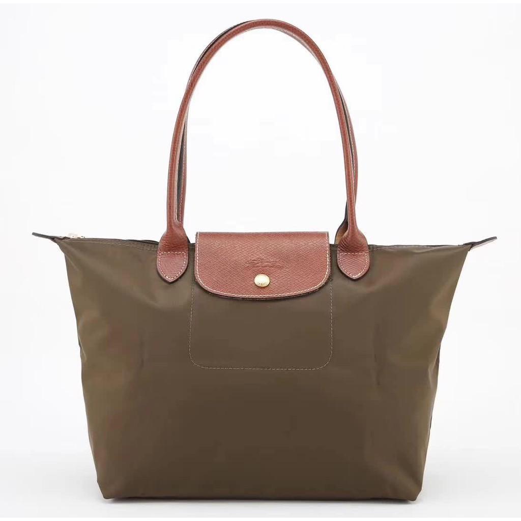 100% authentic longchamp le pliage nylon top handle tote bag 841 beige  small  f9b7ce8426bb2