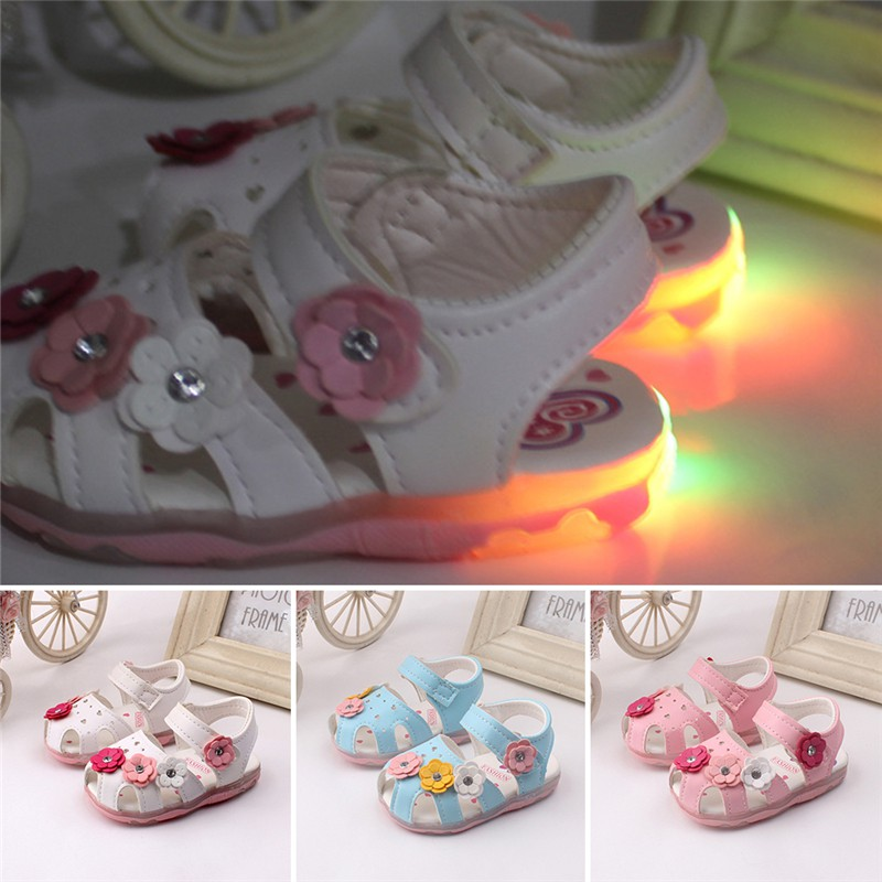 97f52fd8599f Baby Girl Shoes Kids Light Sandals Children Toddlers Led Summer Light Shoes