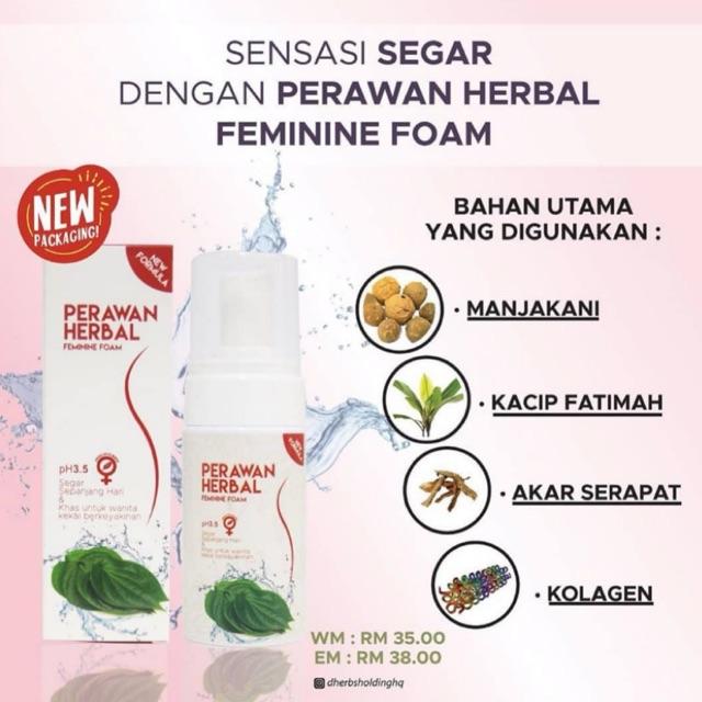 Perawan Herbal Feminine Wash D Herbs Shopee Singapore