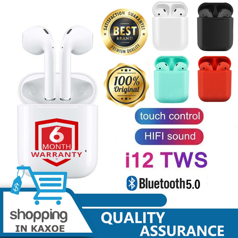 i12 TWS Bluetooth 5 0 Earphone Touch control Sports True Wireless Surround  Sound