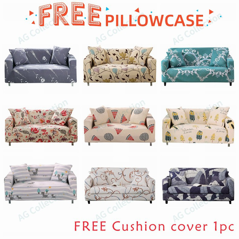 Printed Couch Covers Elastic Stretch