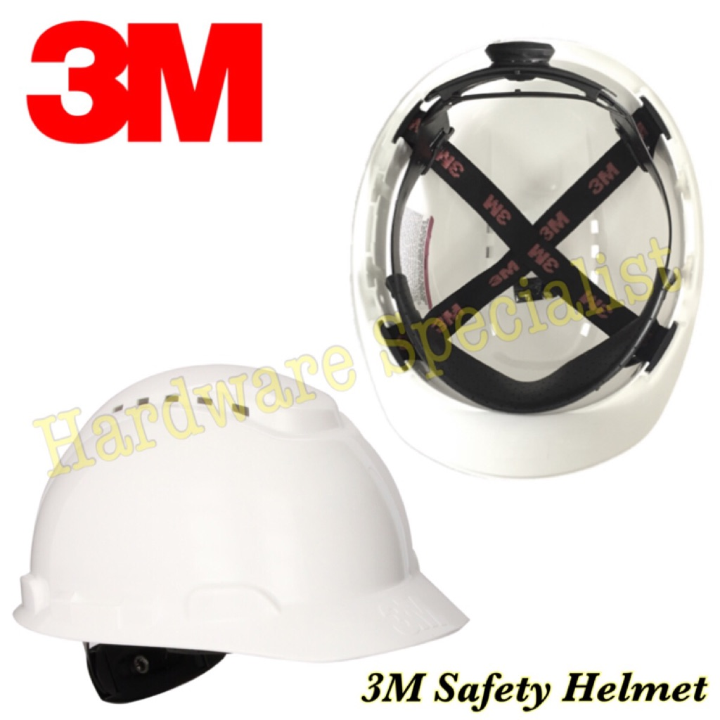 3M 4 Point Ratchet Safety Helmet H-701R