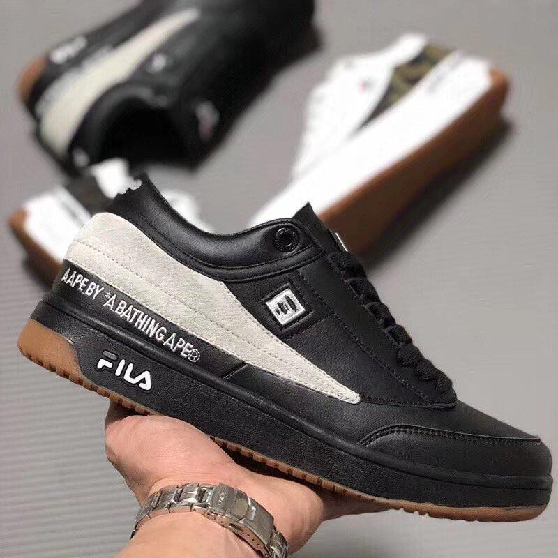 a0f4cb0f3375 AAPE by A Bathing Ape x Fila Tennis  Black