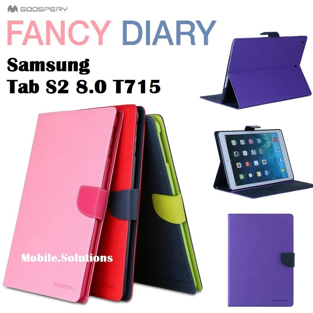 Goospery Samsung Tab S2 80 T715 Fancy Diary Case Authentic Galaxy S8 Plus Canvas Gray Shopee Singapore