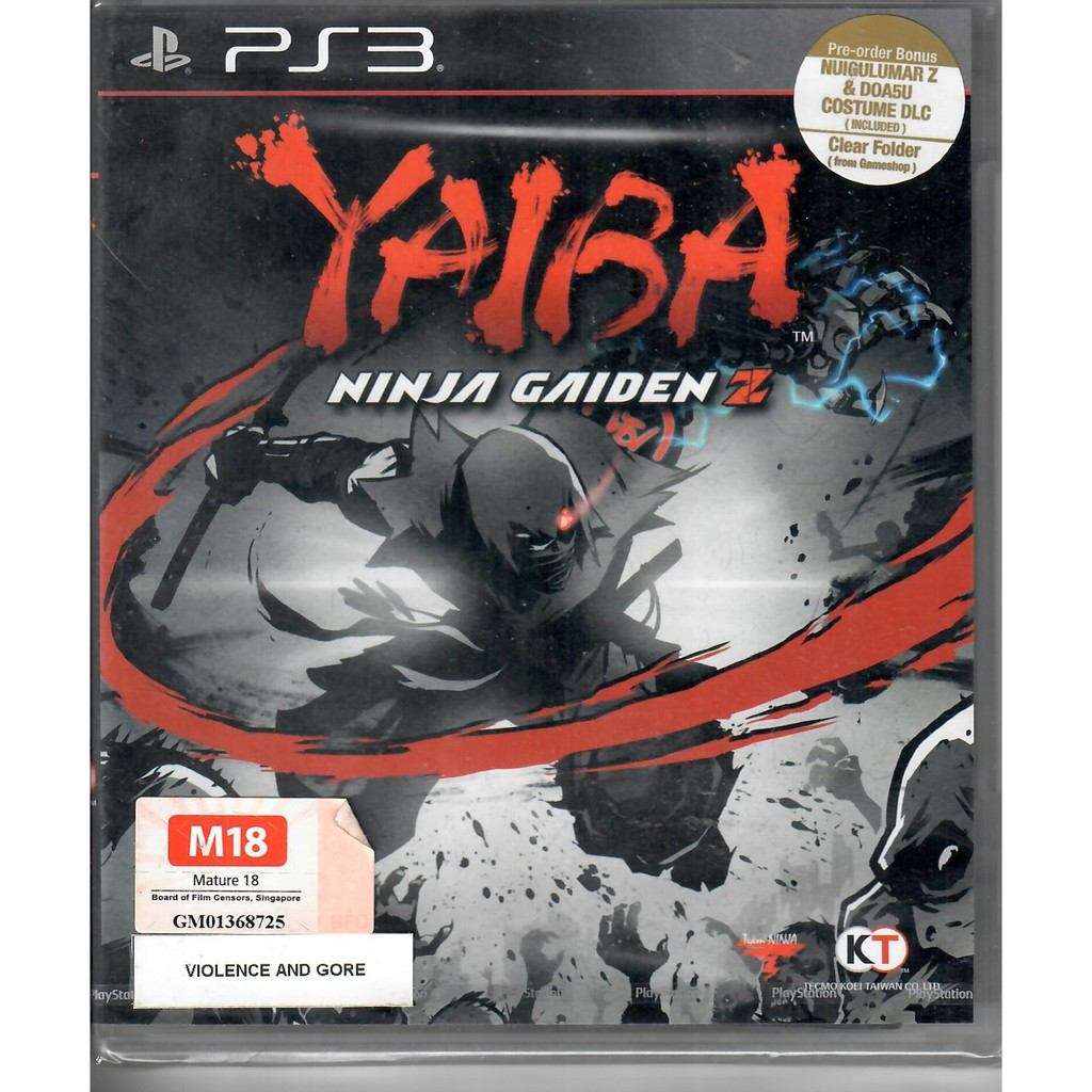 PS3 Yaiba Ninja Gaiden Z R3 | Shopee Singapore