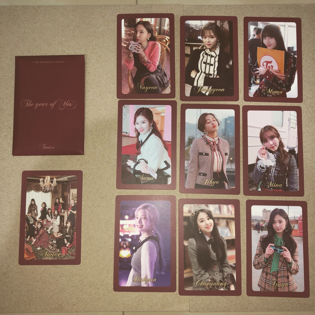 Twice The Year of Yes PO photocard set Ver A