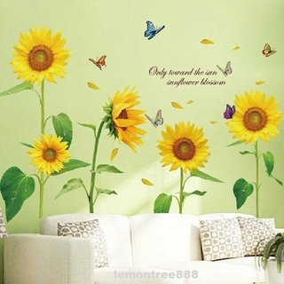 Interior Design Exquisite Waterproof Pvc Nursery Self Adhesive Butterfly Sunflower Home Decor Wall Sticker Shopee Singapore