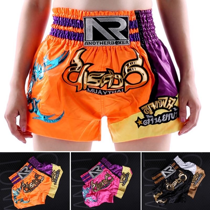 Details about  /Men women Boxing Shorts Polyester Sanda Sportswear Stretchable Training