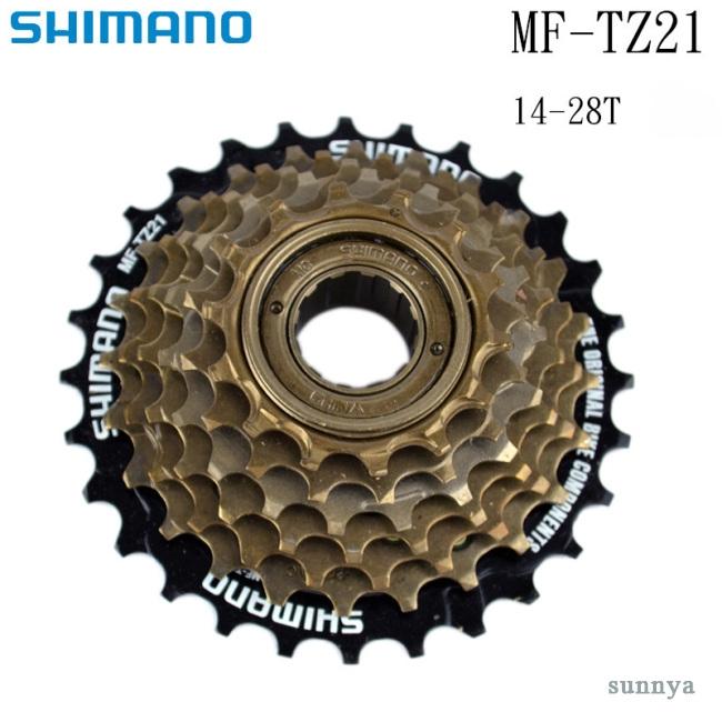 New Shimano MF-TZ21 7-Speed Freewheel Cassette 14-28T for MTB Road Cycling Bike