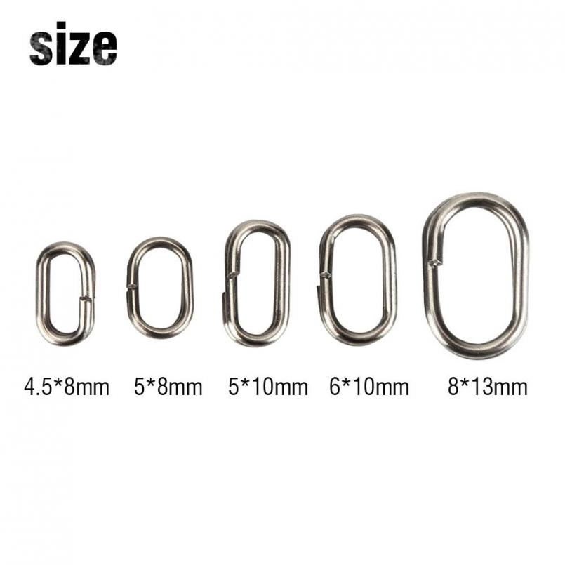 stainless steel oval split rings 10mm x 50