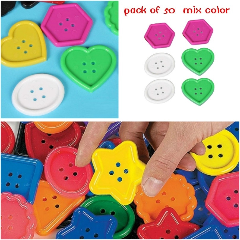 140 Pieces 2-Hole Flat Button Round Buttons DIY Sew Accessory Acrylic Wholesale