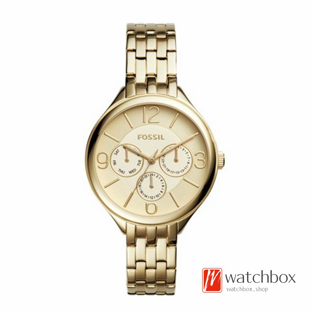 Fossil Es3713 Tailor Multifunction Rose Dial Gold Tone Steel Es3590 Stella Stainless Watch Ladies Shopee Singapore