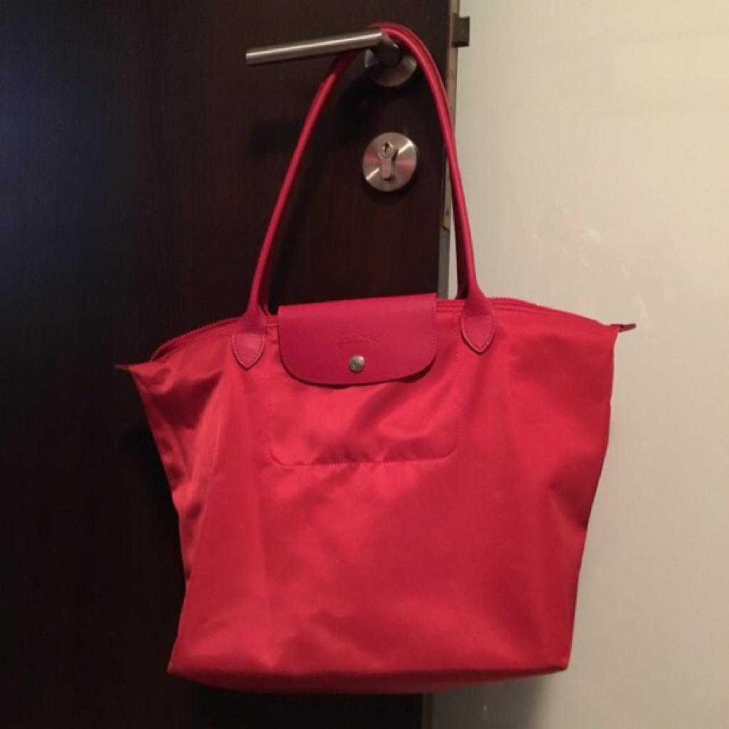 Longchamp Le Pliage No Tote Bag Red Shopee Singapore Neo Ruby Sz Small