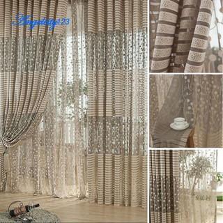 Chic Room Leaf Bedroom Window Curtain