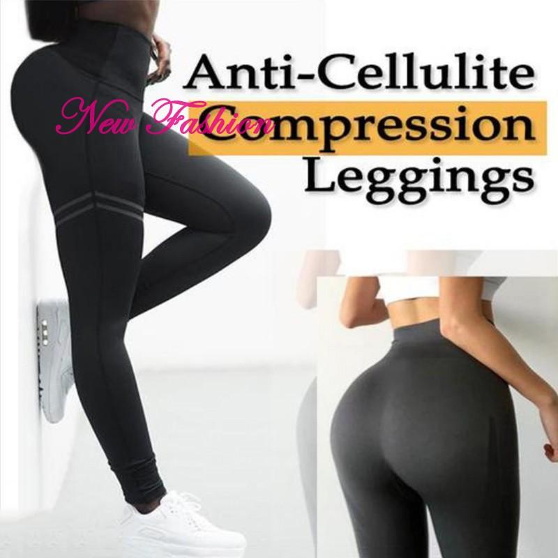 Women Yoga Gym Anti-Cellulite Sport Legging Butt Lift Stretch Pants Trouser X304