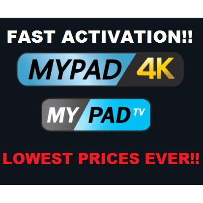 Authorized MYPADTV Subscription! READY Pincode!! (Recommended!)