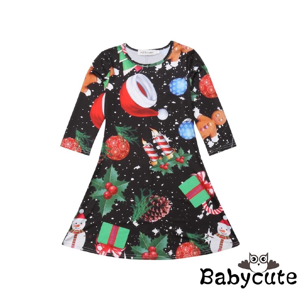 ✪B-BCute Christmas Clothes Kids Boys Girls Xmas Santa Claus Sleepwear  692df7094